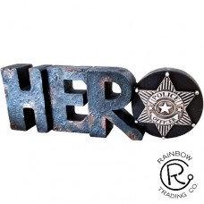 """POLICE HERO 6 1/2'X2"""""""