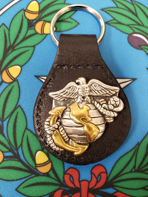 US MARINE LOGO GOLD AND SILVER (KEYCHAIN)
