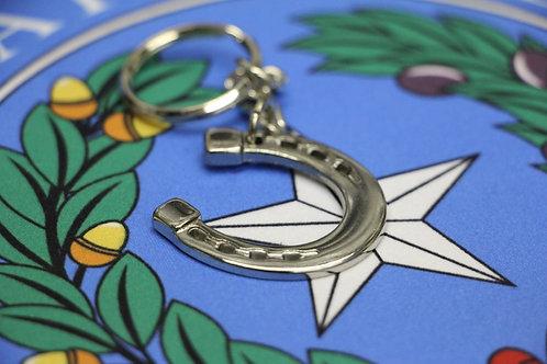 Silver Horseshoe Keychain