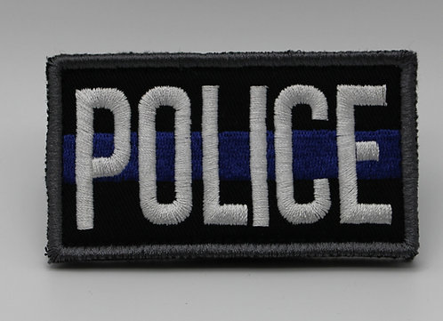 """POLICE Patch With Hook Back 3 1/2"""" X 2"""""""