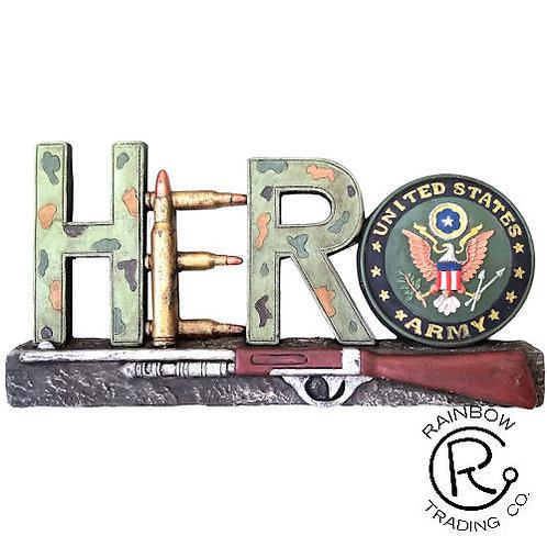 ARMY HERO DECOR 8 3/4 X 4 1/4 WALL