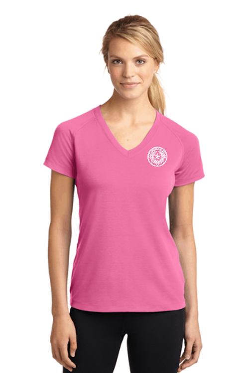 Ladies Ultimate Performance V-Neck NO COLLAR