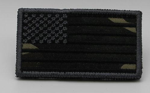 """CAMO FLAG Patch With Hook Back 3 1/2"""" X 2"""""""