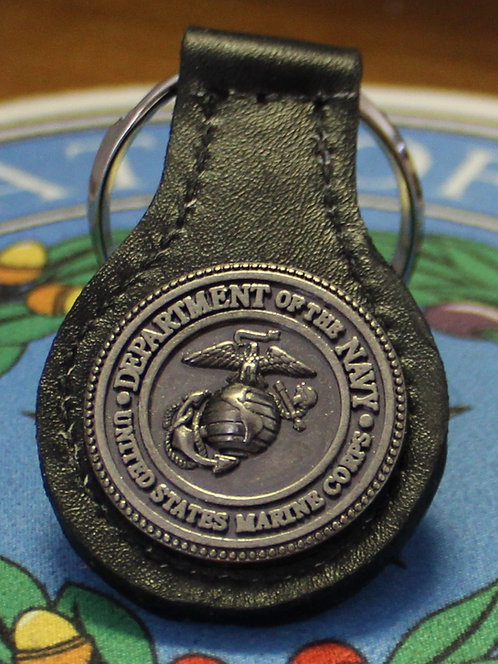 US MARINE KEYCHAIN (LEATHER)