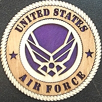 United States Air Force Wood Magnet 3""