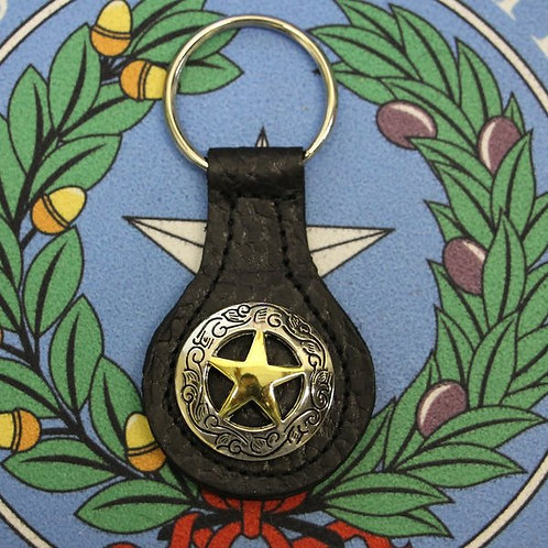 Texas Gold Star Keychain