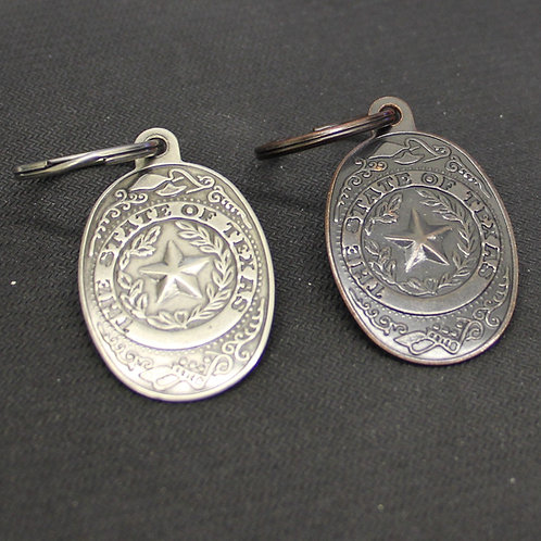 State of Texas Stamped Keychain