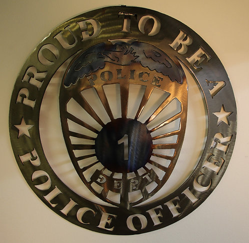 Police WALL Plaque