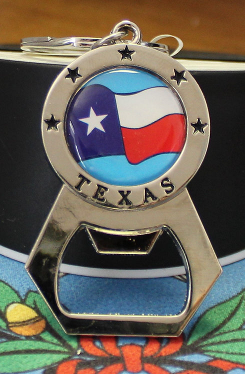 TEXAS BOTTLE OPENER WITH TX FLAG