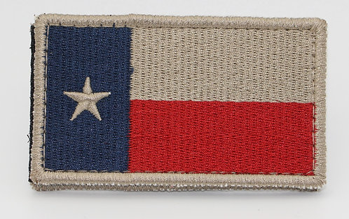 """TEXAS COLOR FLAG Patch With Hook Back 3 1/2"""" X 2"""""""