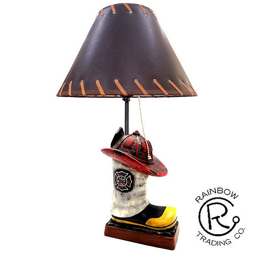 FIREMAN BOOT & HAT LAMP