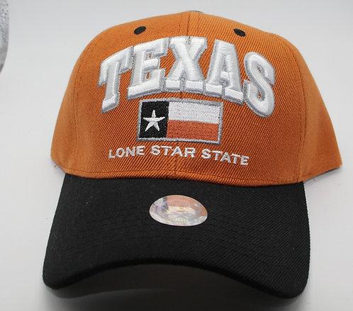 LONE STAR STATE CAP ORANGE/BLACK