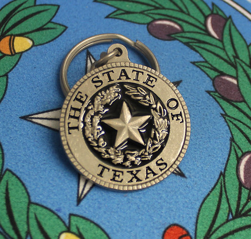 State Seal Black or Red Keychain