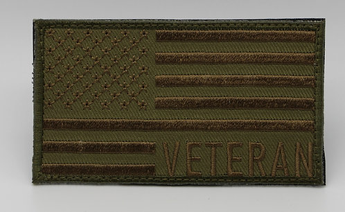 """VETERAN Patch With Hook Back 3 1/2"""" X 2"""""""