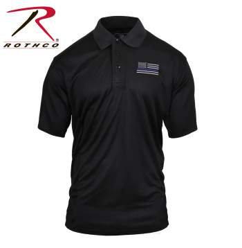 Rothco Thin Blue Line Moisture Wicking Polo
