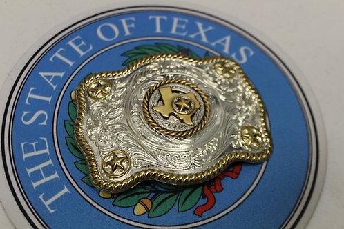Antique Texas Concho Belt Buckle