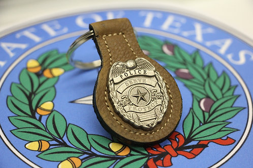 POLICE SERVE AND PROTECT KEYCHAIN
