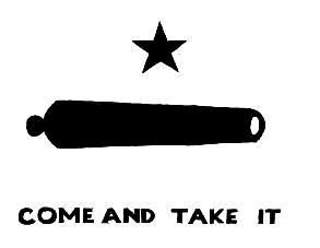 """Gonzales Cannon """"Come And Take It"""" 3X5"""