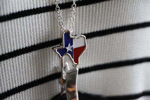 STATE OF TEXAS RED, WHITE, & BLUE LANYARD