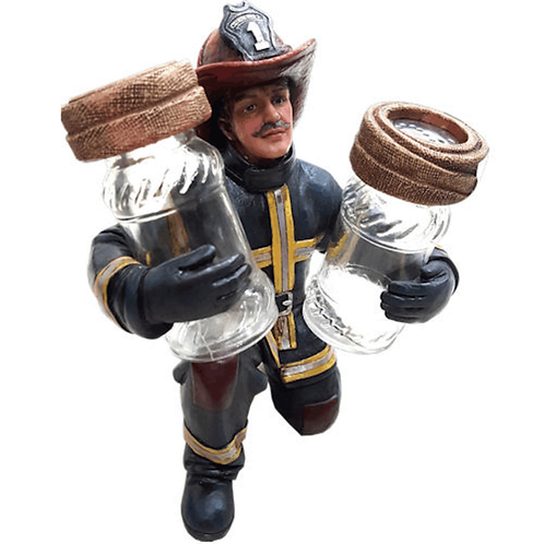 FIREMAN SALT & PEPPER HOLDER