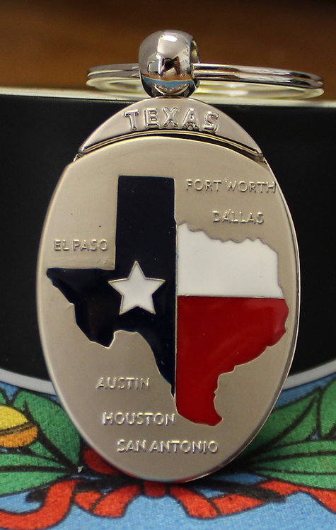 TEXAS CITIES KEY-CHAIN C-1