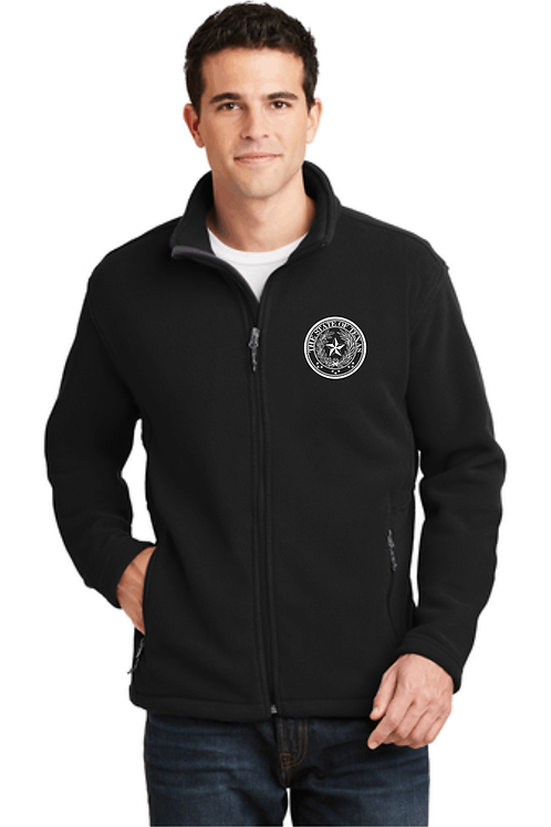 Port Authority Fleece Jacket w/embroidery white TEXAS seal
