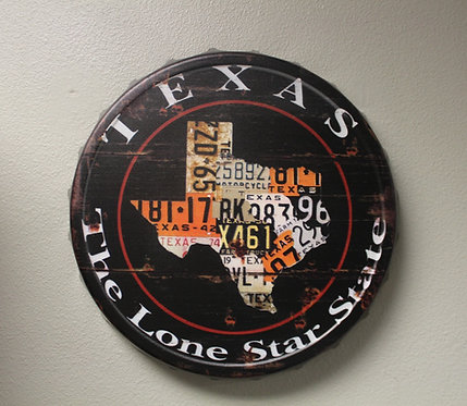State of Texas License Plates Plaque