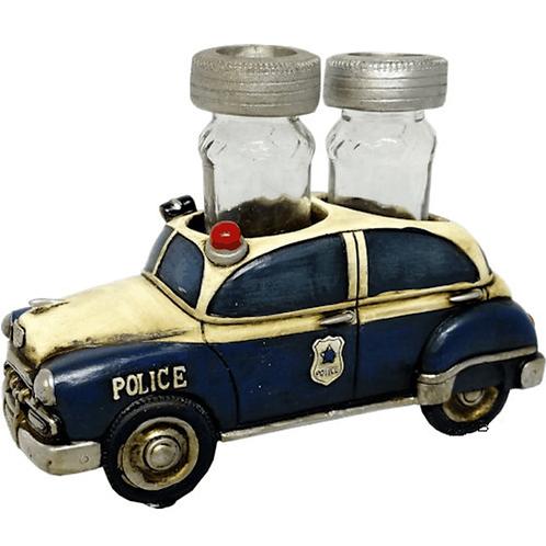 POLICE CAR SALT & PEPPER HOLDER