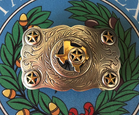 Texas Gold and Silver Belt Buckle