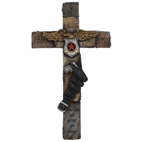 POLICE WALL CROSS