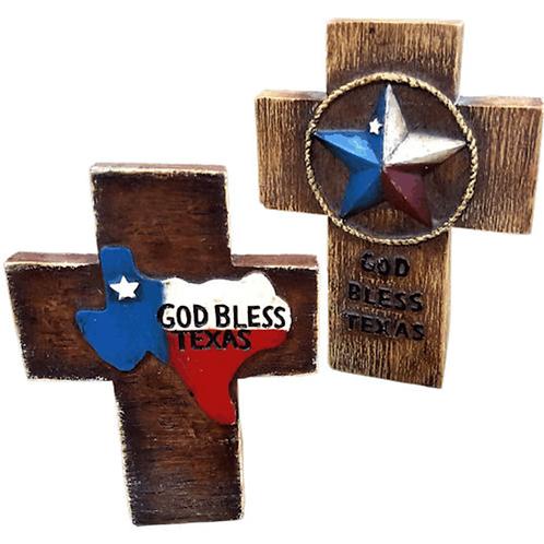 SMALL GOD BLESS TEXAS CROSSES