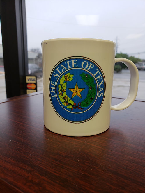 STATE OF TEXAS SEAL COFFEE MUG POLY (full color)
