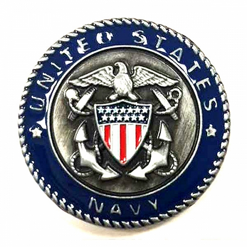 United States Navy Metal Magnet