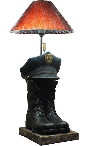POLICE BOOT HAT LAMP