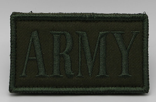 """ARMY Patch With Hook Back 3 1/2"""" X 2"""""""
