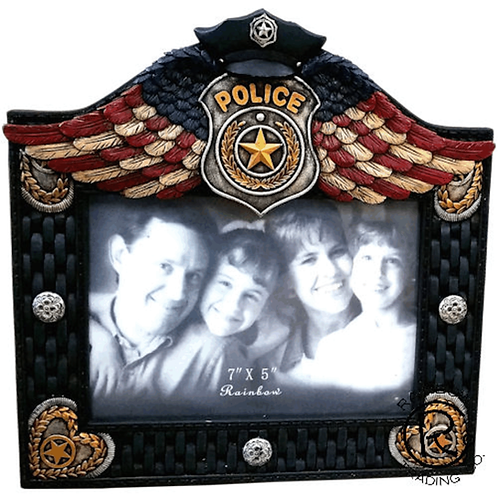 POLICE WINGED 7X5 FRAME