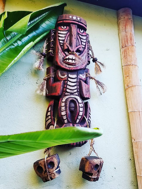 Hand Carved! Hanging Stylized PNG Tiki Carving by Kirby