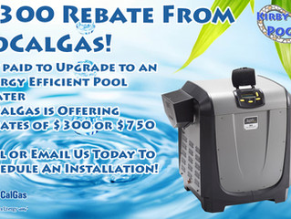Get $300 Back!! SoCal Gas $300 Rebate for Pool Heater Upgrade!
