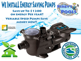 Upgrade and Save! Up to $1000. Rebates for energy efficient pool equipment extended to 2019!!
