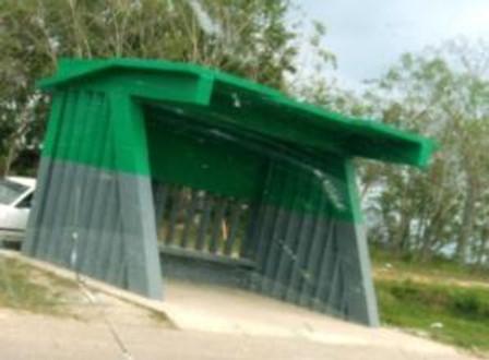 Super reinforced concrete bus stop