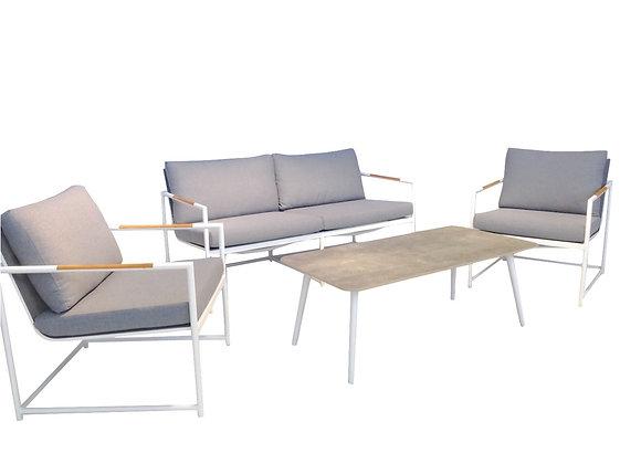 Jasper 4pc lounge - white