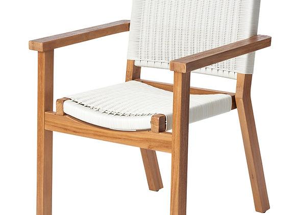 Aegean dining chair - white