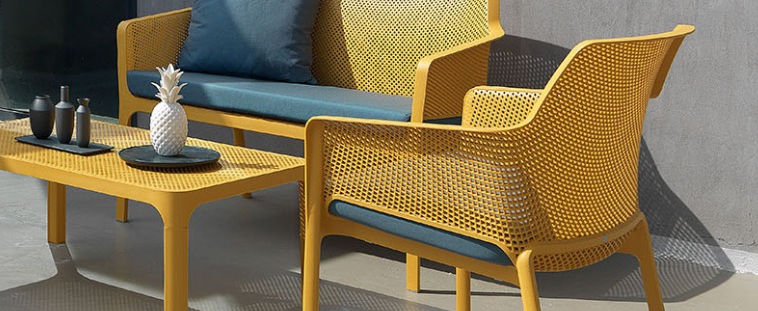 Italian resin & outdoor cushion