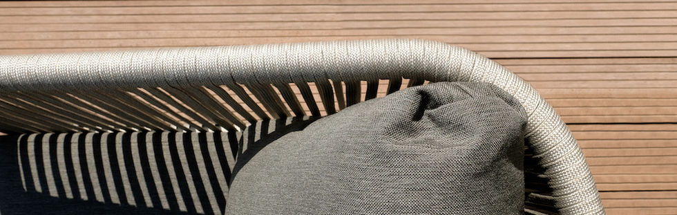 Handwoven rope & outdoor cushions