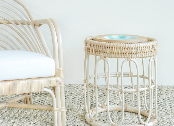 Napier natural cane side table