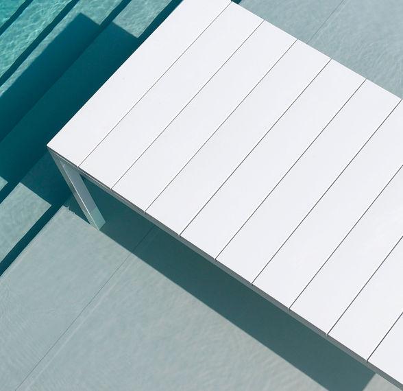 Italian made aluminium & resin table