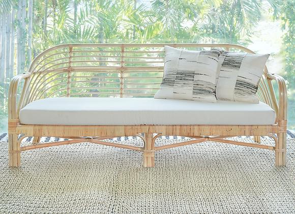 Albion natural cane 3 seat sofa