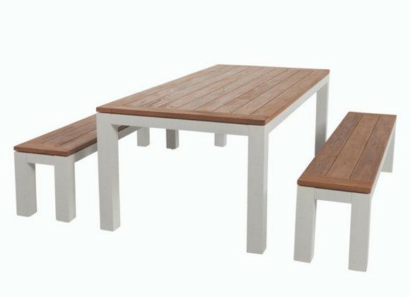 Urban dining bench set