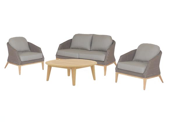Crown 4pc woven lounge - seats 4