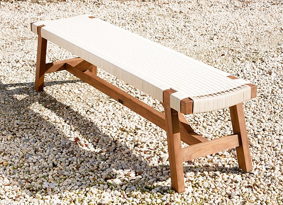 Aegean bench - white